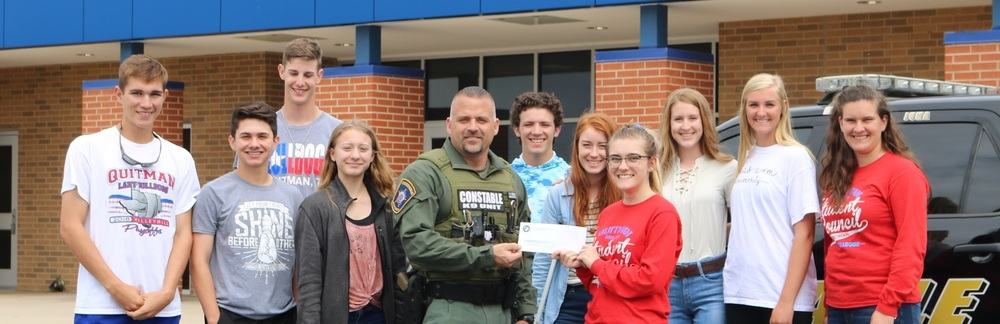 QHS Student Council Raises Money for Constable Smith and K-9 Partner Juma