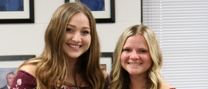 2018-2019 Valedictorian and Salutatorian Lead Pledges at School Board Meeting