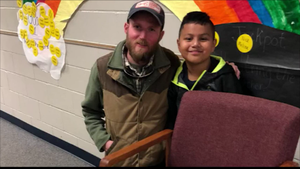 Angel's New Desk: School Maintenance Employee Makes Special Seat for Student
