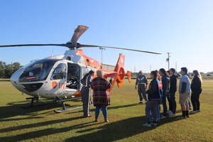 UT Health East Texas's Air 1 Visits QHS