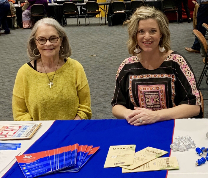 UT TYLER JOB FAIR - Mary Ann Nichols and Whitney Crutcher.