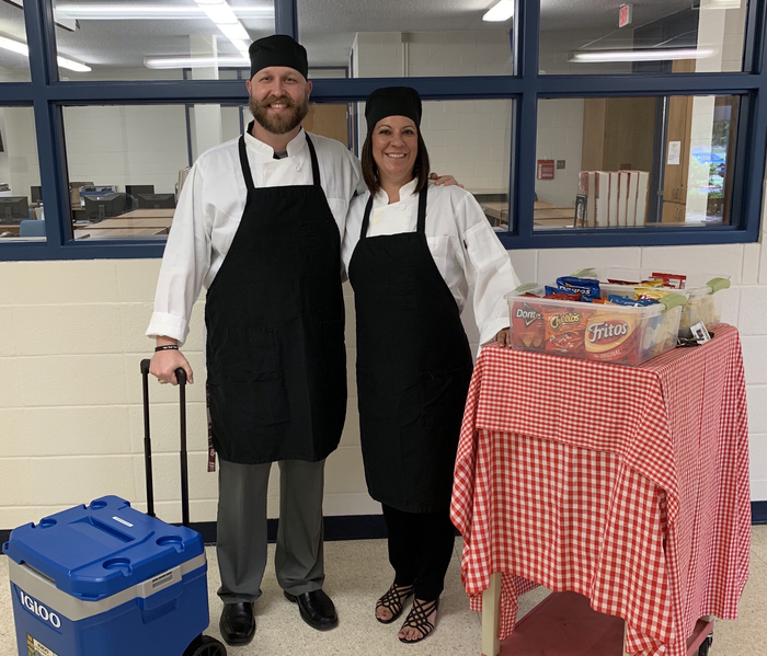 "In honor of teacher appreciation week, Mrs. Hamrick and Mr. French are providing an afternoon ""pick me up"" with drink and snack deliveries. We are so grateful for all our teachers!"